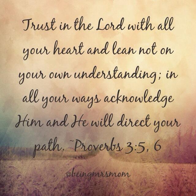 Proverbs 3:5, 6