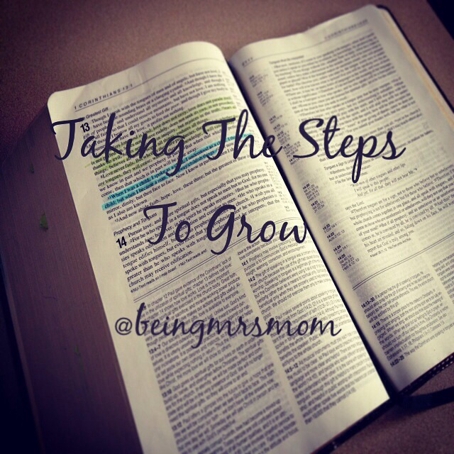 Taking The Steps To Grow…Spiritually