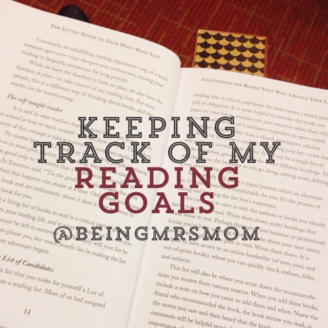 Keeping Track Of My Reading Goals