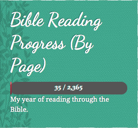 Bible Reading Progress