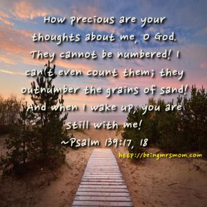 Psalm 139-17, 18