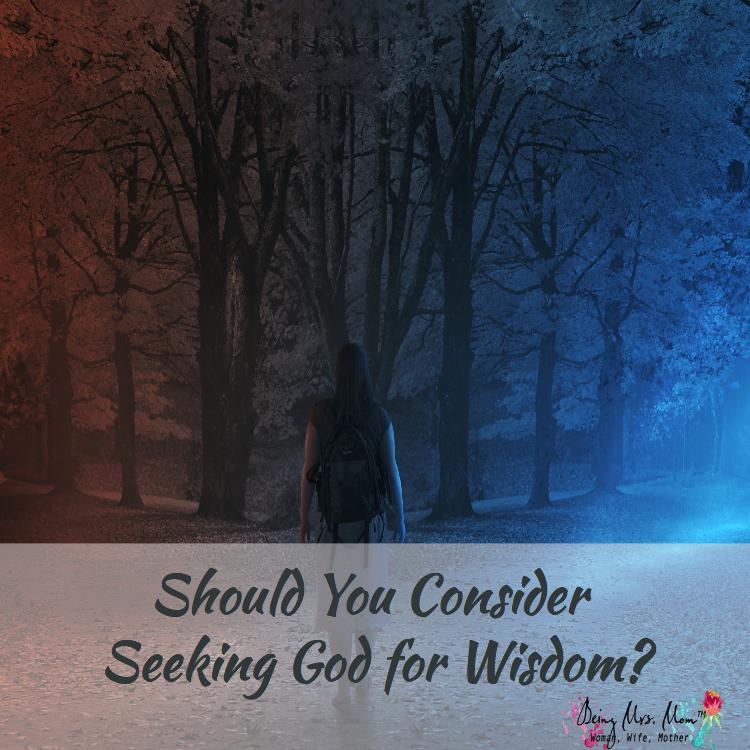 Should you consider seeking God for wisdom?