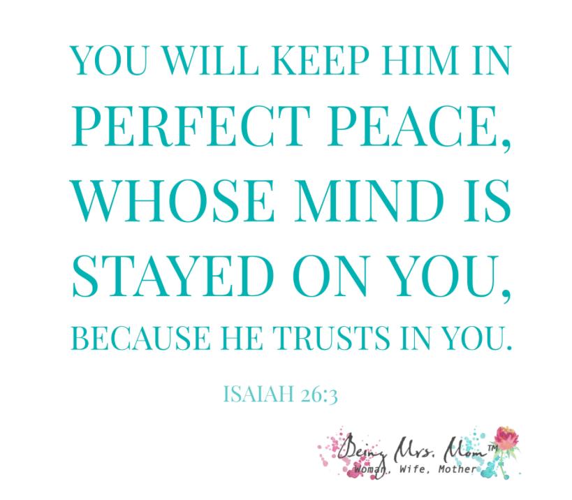 Sharing Scripture: Isaiah 26:3
