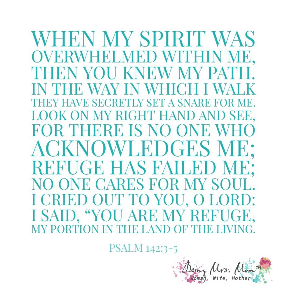 Psalm 142:3-5