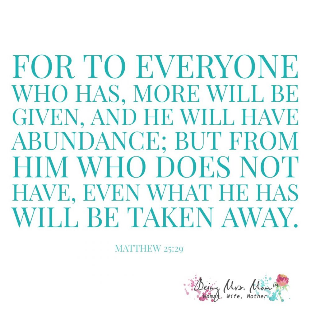 Matthew 25:29