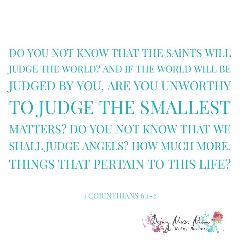1 Corinthians 6:1-2